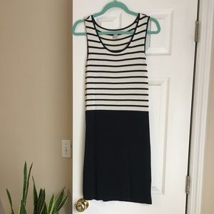 Cute cotton black and white striped day dress!